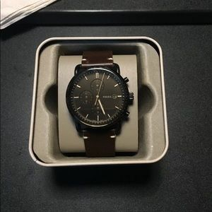Brown Chrono Fossil Watch